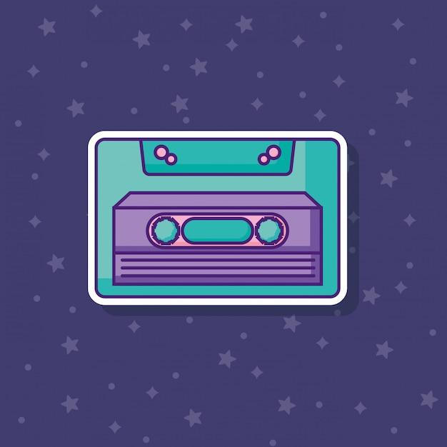 Retro cassette icon Premium Vector
