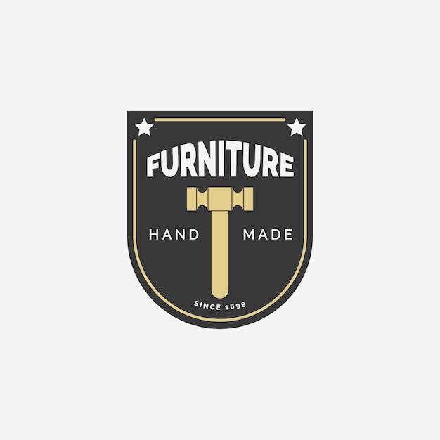 Концепция логотипа ретро стул мебель Бесплатные векторы