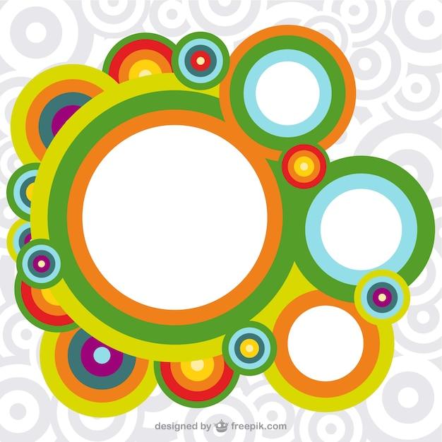 Circle Wallpaper: Retro Circles Wallpaper Vector
