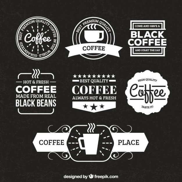 Retro Coffee Badges Vector