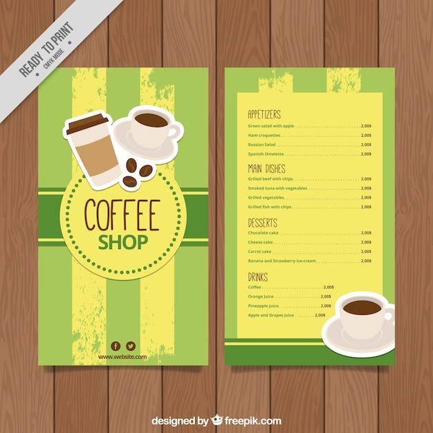 Retro coffee menu template Free Vector