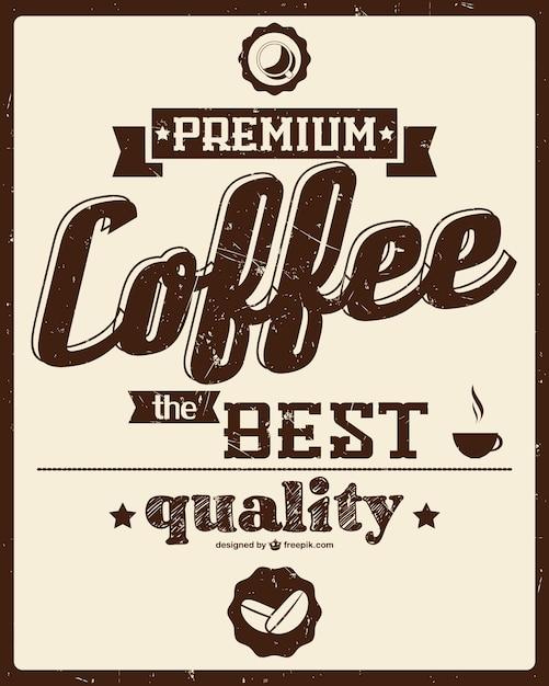Coffee Posters Retro ~ Retro coffee poster vector free download