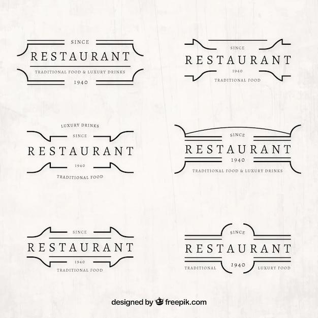 Retro collection of restaurant logos