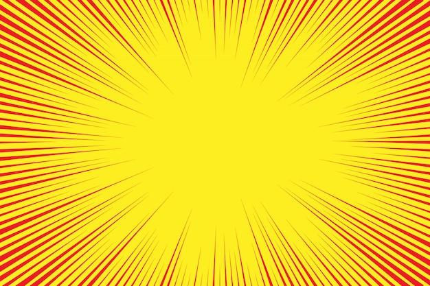 Retro comic style background with sun rays Premium Vector