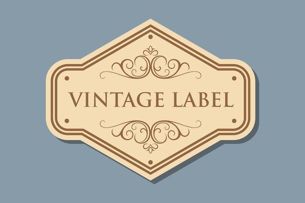 Retro craft label Premium Vector