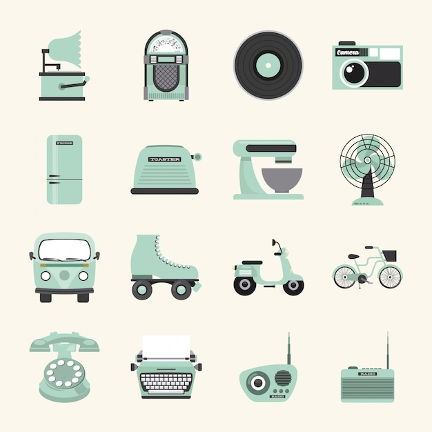Retro device Premium Vector