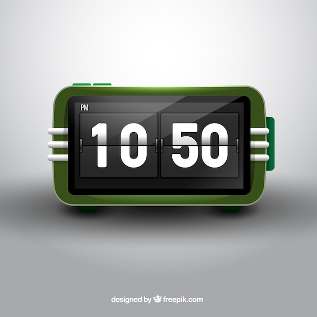 Retro digital clock Free Vector