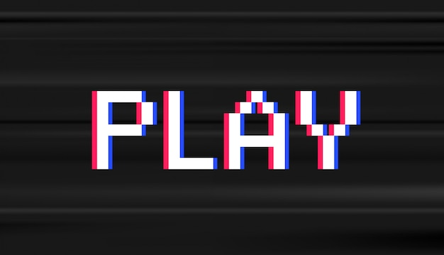 Retro digital type. computer video game stule word play Premium Vector