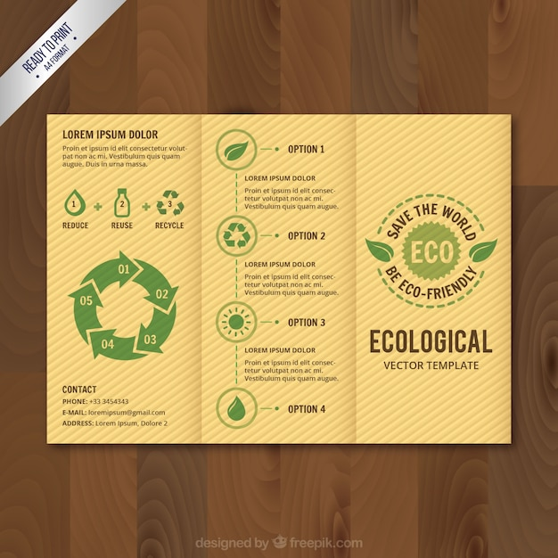 Retro Eco Brochure Vector | Premium Download