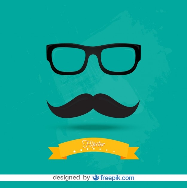 Retro fashion hipster look vector Free Vector