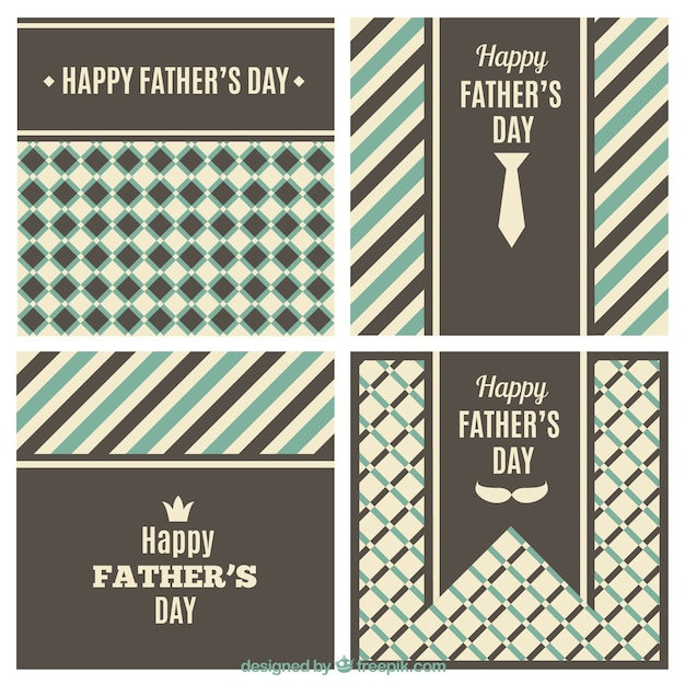 Retro fathers day backgrounds