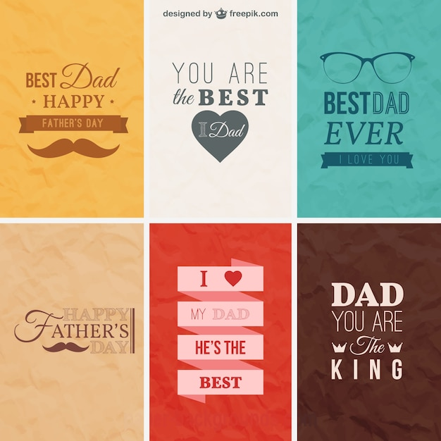 Retro fathers day cards