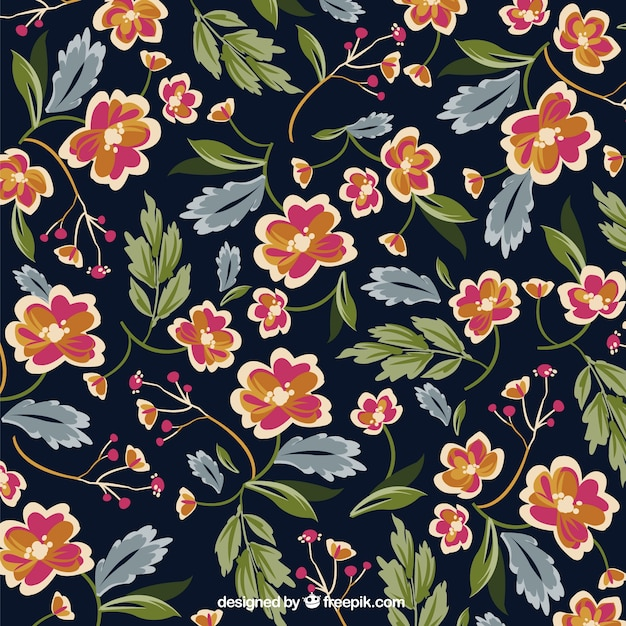 Retro floral background Free Vector