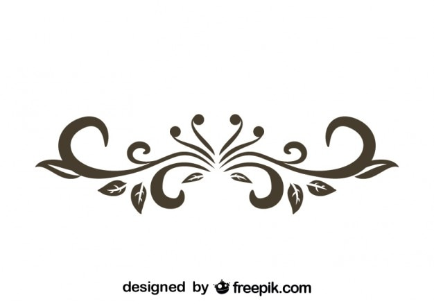 Line Design Art Psd : Retro floral decorative text divider design vector free