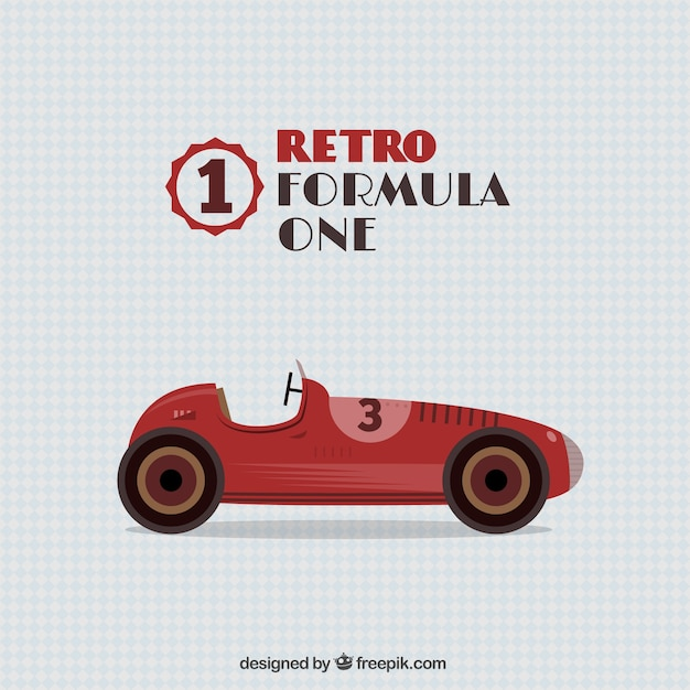 retro formula one car vector free download
