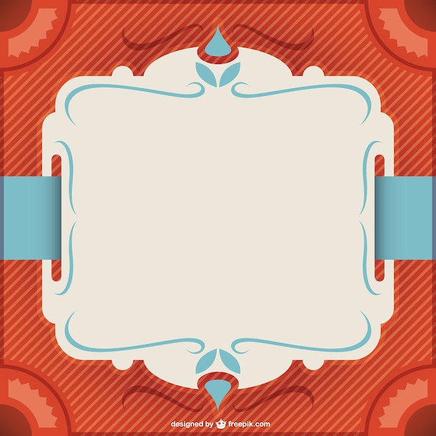 Retro Frame Layout Vector Free Download