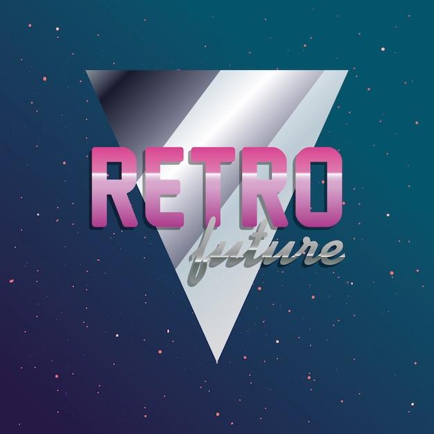 Retro future label Premium Vector