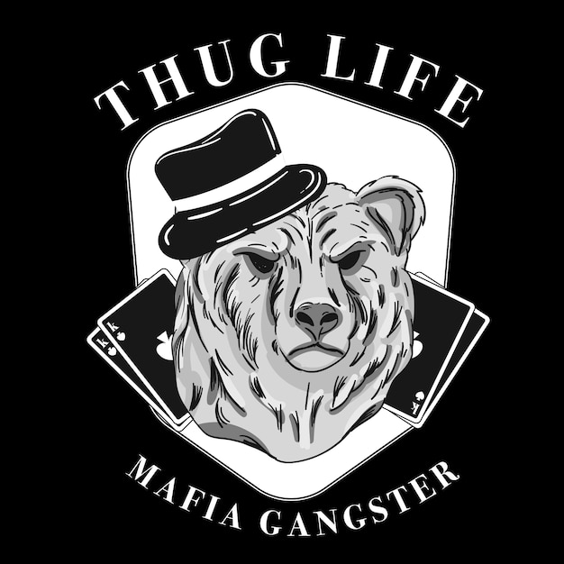 Retro gangster character concept Free Vector