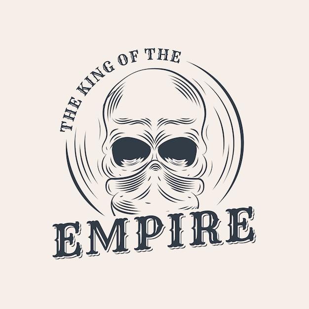 Ретро гангстерский логотип с черепом Бесплатные векторы