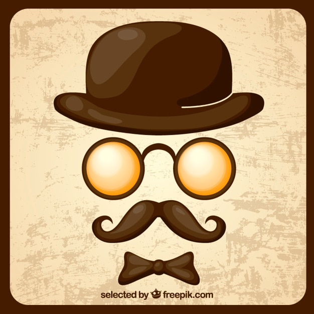 9d096ad22130bd Retro gentleman elements Vector | Free Download