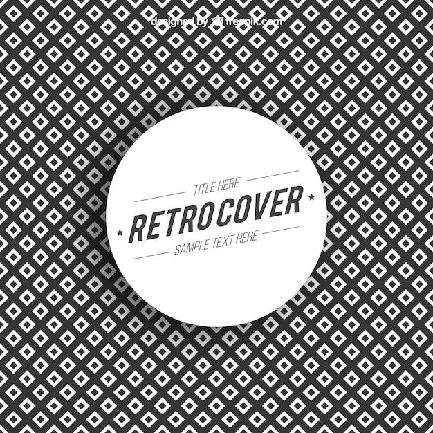 Retro geometric cover Free Vector