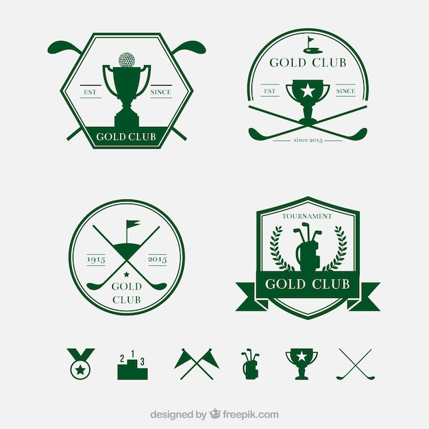 Retro golf badges