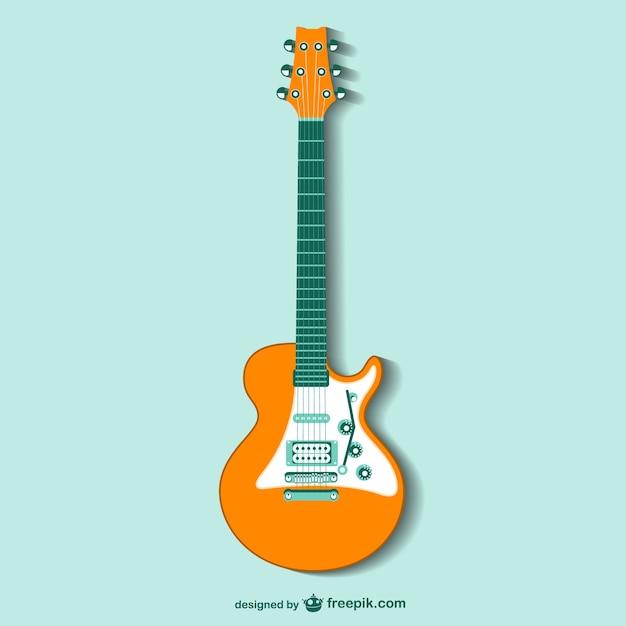 retro guitar vector vector | free download