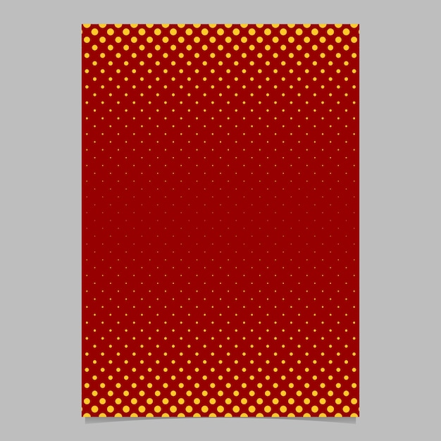 Retro Halftone Dot Pattern Brochure Template  Vector Poster