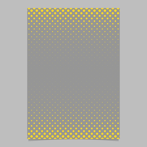 Retro Halftone Dot Pattern Flyer Background Template - Vector