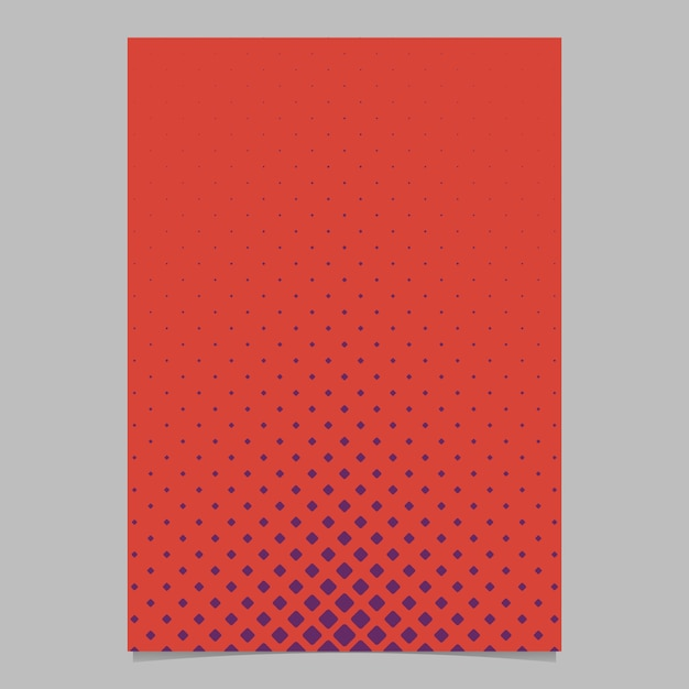 Retro Halftone Rounded Square Grid Pattern Brochure Template