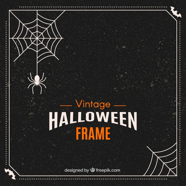 Retro halloween frame Free Vector