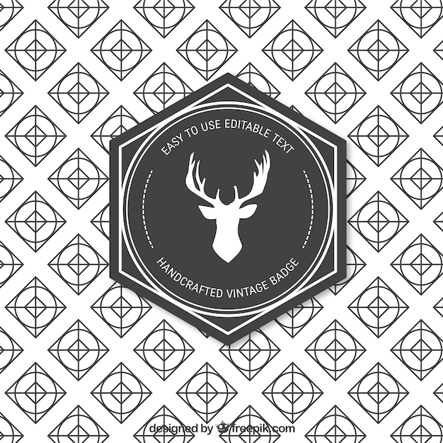 Retro handcrafted badge Free Vector
