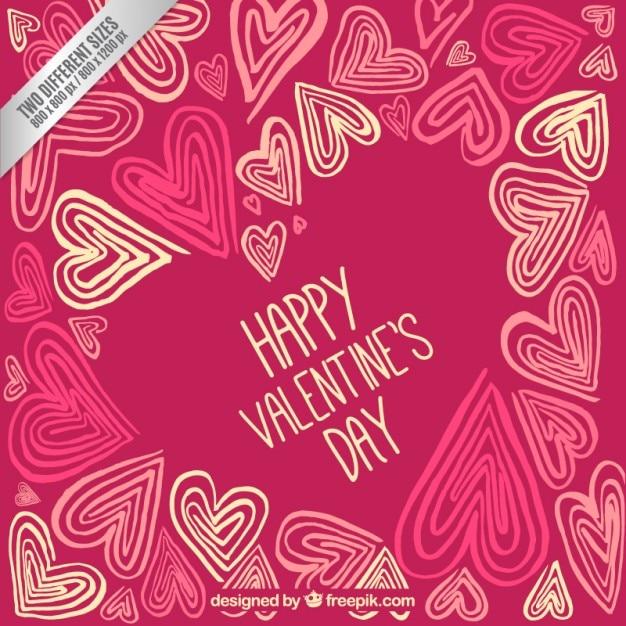 Retro happy valentine day background Vector | Free Download