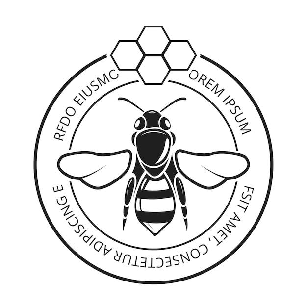 Retro honeybee Premium Vector