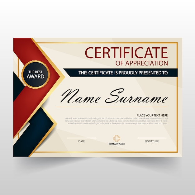 Certificate frame vectors photos and psd files free download retro horizontal certificate of appreciation yadclub Images