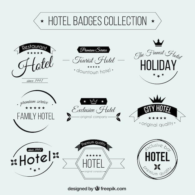 Retro Hotel Badges Collection