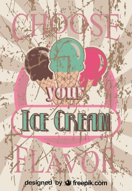 Ice Cream Poster Design Vector Free Download