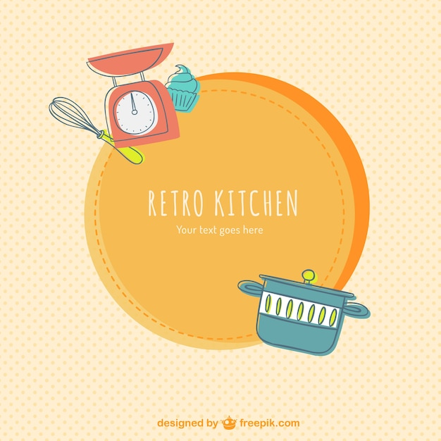 Retro kitchen label