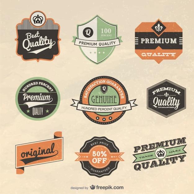 Retro label design    vector Free Vector