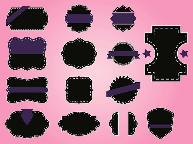 Retro label designs decorations Free Vector