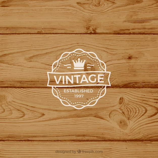 Retro Label On Rustic Background Free Vector