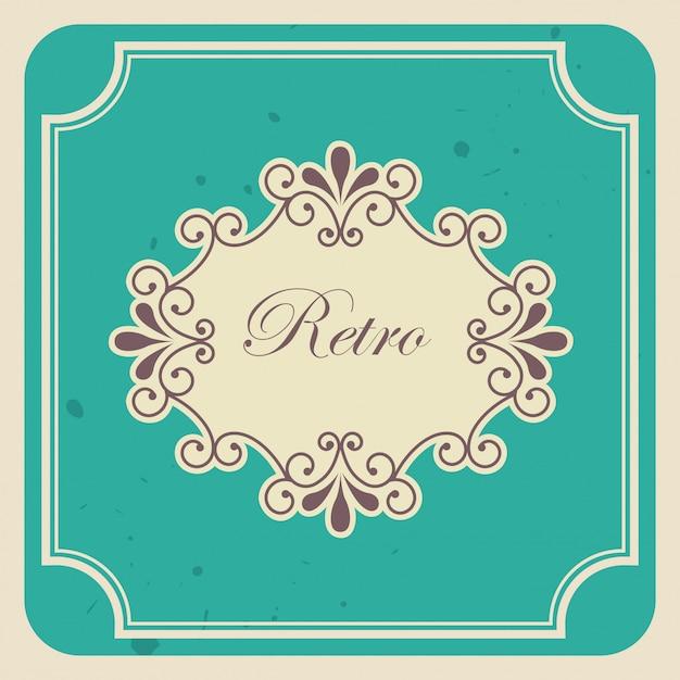 Retro label Free Vector