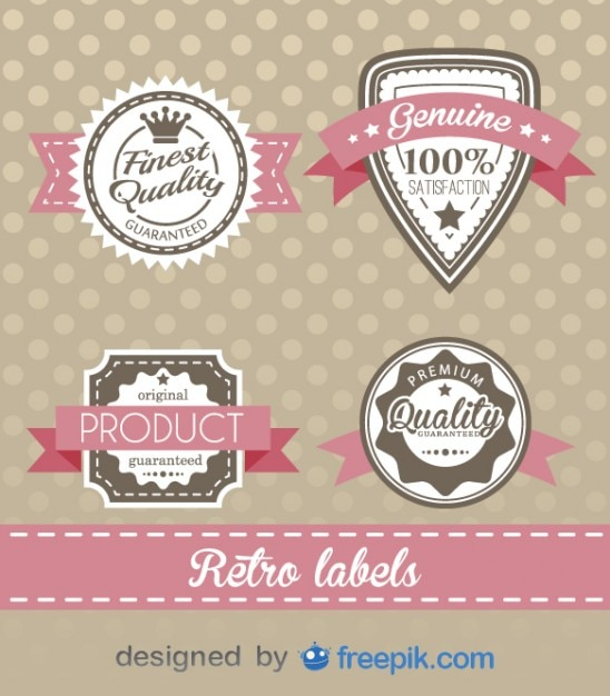 Retro labels design Free Vector