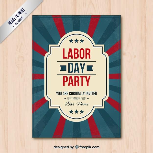 Retro labor day poster