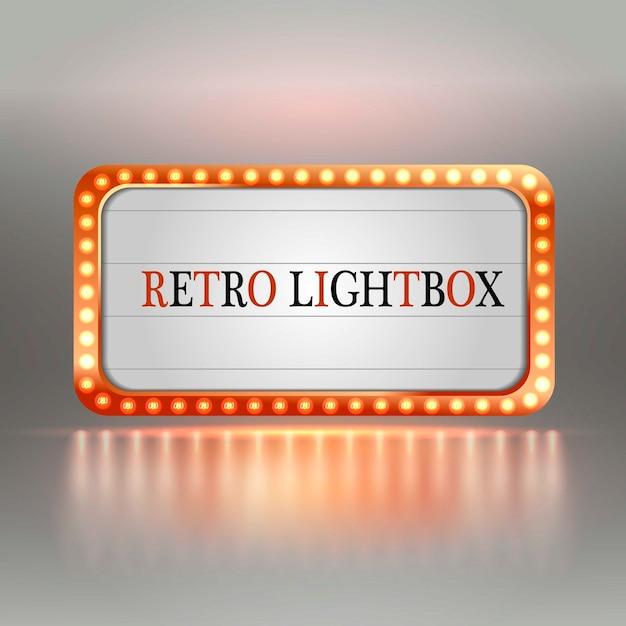 Retro lightbox. Premium Vector
