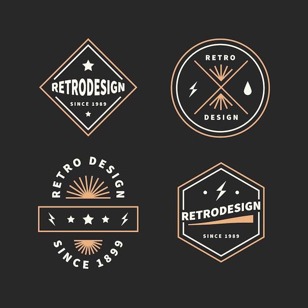 Retro logo collection concept Free Vector
