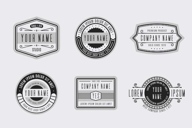 Retro logo collection Free Vector