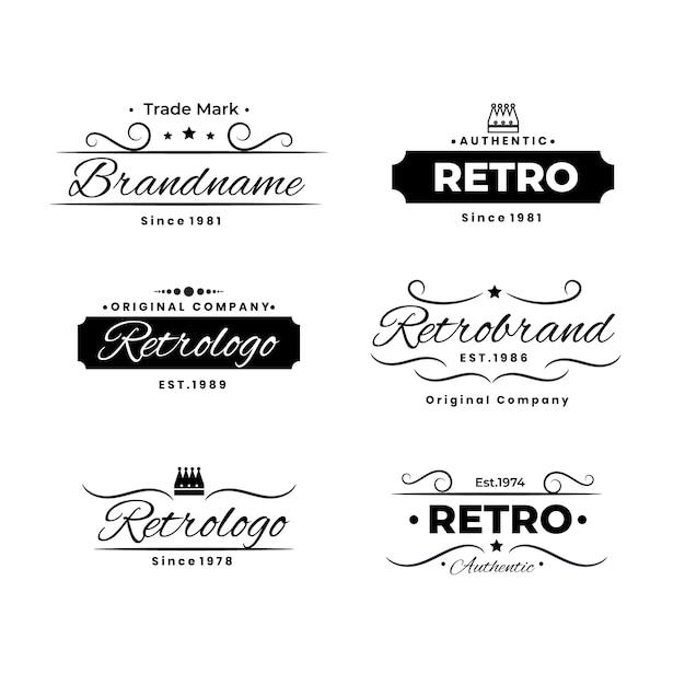 レトロなロゴのコレクション 無料ベクター