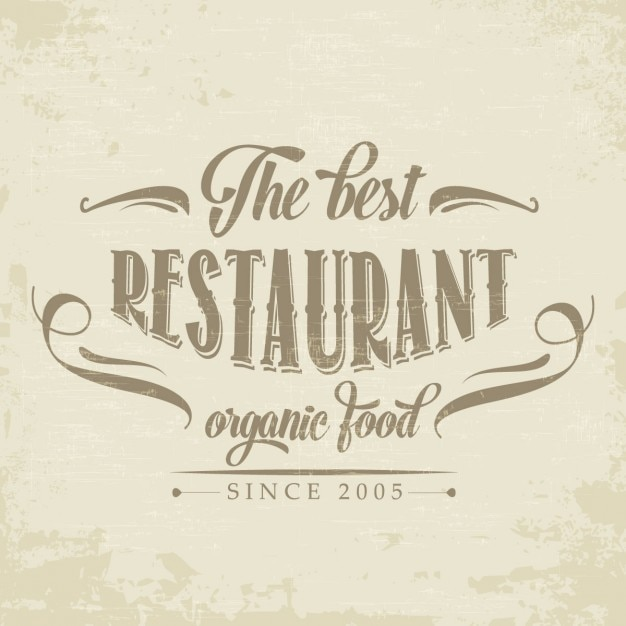 Retro logo for a restaurant Free Vector
