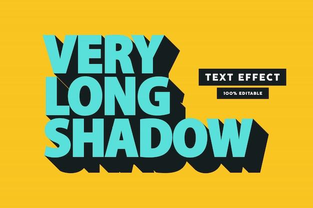 Retro long shadow text effect, editable text Premium Vector